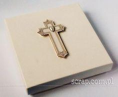 Pudełko na Chrzest   http://www.hurt.scrap.com.pl/pudelko-kremowe-ecru-na-kartke-kwadratowa.html