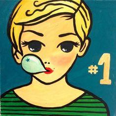 Titel: »Bubbling With A Star«, Maße: 40 x 40 cm, Material: Acryl auf Leinwand, Preis: 150 Euro inkl. Mwst., (c) Foto: evelin.de, Anfrage unter: ciyc@frohmann.com