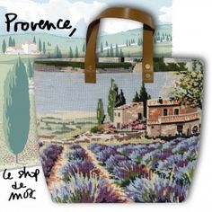 Provence & Lavenders #tote #provence #needlepoint #purse