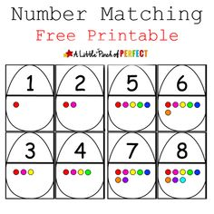 Easter Egg Number Matching Free Printable -