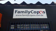 Logo pintado em parede - FamilyCopos