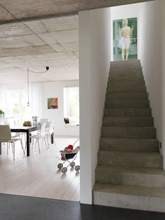 Loft stairs industrial architecture ideas for 2019 Industrial Architecture, Stairs Architecture, Architecture Design, Loft Stairs, House Stairs, Building Stairs, Building A House, Cement Steps, Escalier Design