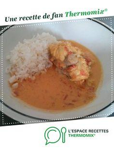Curry de queue de lotte au lait de coco par Mariesca. Une recette de fan à retrouver dans la catégorie Plat principal - divers sur www.espace-recettes.fr, de Thermomix<sup>®</sup>. Coco, Oatmeal, Grains, Breakfast, Desserts, Risotto, Monkfish Recipe, Curry Shrimp, Dessert