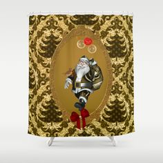 Funny Santa Claus Shower Curtain by