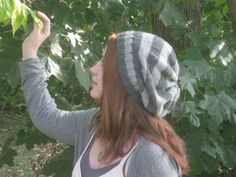 Striped & Slouchy Hat