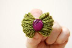 Yarn hair bows