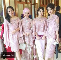 New wedding makeup elegant bridesmaid 29 Ideas Kebaya Lace, Kebaya Hijab, Kebaya Dress, Kebaya Muslim, Batik Kebaya, Dress Brukat, Batik Dress, Lace Dress, Party Dress