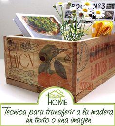 DIY: Cómo transferir texto o imágenes a la madera. ASí de sencillo!