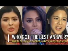 Beautiful messages for the women of Marawi from Catriona Gray, Mariel de Leon, and especially proud of Kisses Delavin - young & raw, her compassion, positivity & sincerity shines through. Video Clip, Compassion, Kisses, Music Videos, Positivity, Good Things, Messages, Gray, Youtube