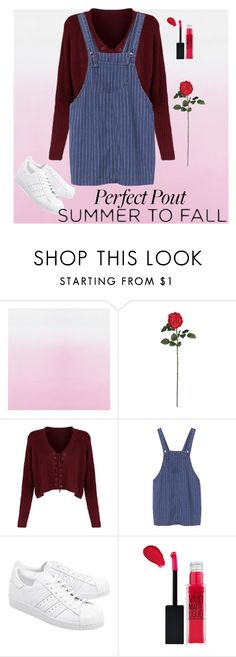 """Go"" by riskisaumirf on Polyvore featuring Nearly Natural, adidas Originals and Maybelline"