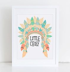 Little Chief Native American Headdress by TheLilPrintables on Etsy