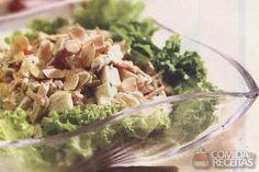 Receita de Salpicão natalino diferente em receitas de saladas, veja essa e outras receitas aqui!