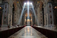 Sunlight through church windows