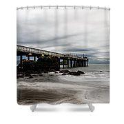 Trinidad Pier Shower Curtain by Marnie Patchett