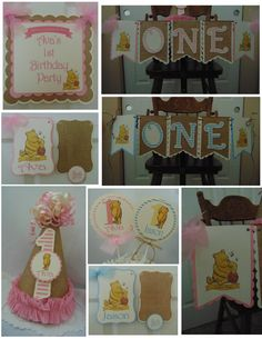 Winnie the Pooh Classic 1st Birthday Petite by ASweetCelebration