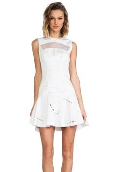 Robert Rodriguez Kuba Embroidered Dress in White from REVOLVEclothing