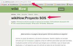 Cómo unirte al proyecto SOS de wikiHow