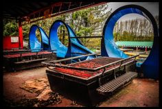 Entrance to water slide at Abandoned Theme Park, Camelot. https://sellfy.com/p/rpgj