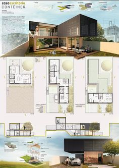 TFG I - Container Home Office Projec. model architecture concept diagram conceptual model diagrams drawing landscape layout layout presentation portfolio cover page poster presentation presentation house dream homes architecture building Architecture Sketchbook, Architecture Board, Architecture Visualization, Architecture Portfolio, Concept Architecture, Interior Architecture, Landscape Architecture, Bauhaus Architecture, Architecture Diagrams