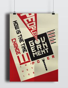 Constructivism Typography Poster by Suzanne Lim, via Behance