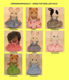 Sylvanian Families NEW clothes 1 SUMMER DRESS FOR SMALLER CHILD - on ebay