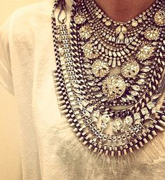 Statement necklaces - crystal stacking! :: that is what I am talking about!