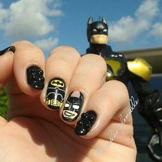 Batman Lego nails