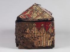 Painted wood box with the Legend of Guilhem of Orange, about 1200–1225. Southern France. Walnut, paint, and iron mounts. Private Collection, United Kingdom Founding Father | The Metropolitan Museum of Art
