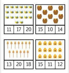 Atividades Escolares: Pareamento de números Numbers Preschool, Math Numbers, Preschool Math, Teaching Math, Math Activities, Printable Preschool Worksheets, Printable Numbers, Kindergarten Worksheets, Worksheets For Kids