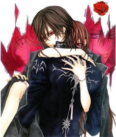 'Vampire Knight, Vol. by Matsuri Hino and Matsuri Hino ---- Meet your knights in shining darkness. Cross Adademy is attended by two groups of students: the Day Class a. Vampire Knight, Vampire Art, Manga Anime, Manga Art, Anime Guys, Anime Teen, Manga Books, Anime Naruto, Yuki And Kaname