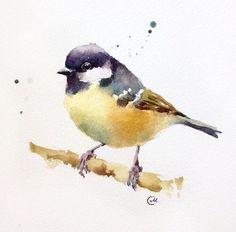 Watercolor Bird Original Painting