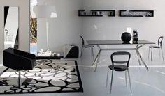 Black and white dinning room design