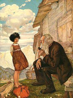 Heidi and Grandfather by Gustaf Tenggren