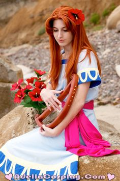Marin (from Zelda: Link's Awakening) by the Beach by Adella cosplay.
