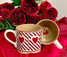 Add to your collection the Nicholas Mosse Pottery handcrafted Valentine Mug 2020 Irish Pottery, Valentines Mugs, Pottery Making, Dream Kitchens, Mug Designs, Utensils, Swirls, Coffee Mugs, Cups