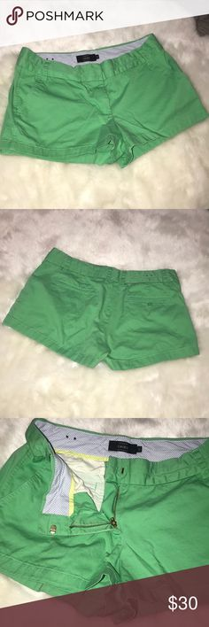 J. CREW GREEN CHINO SHORTS J. Crew green chino shorts. In perfect condition. Will lower price if bundled with other J. Crew products. J. Crew Shorts