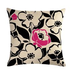 Flower Patterned Pillow Covers Cushion Covers, Pillow Covers, Flower Pillow, Flower Patterns, Cushions, Throw Pillows, Flowers, Pillow Case Dresses, Doodle Flowers