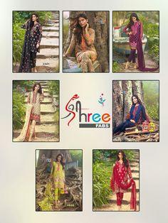 #buy #Mirza FullCatalog Shree Fab Set of 7 #SalwarKameez available here