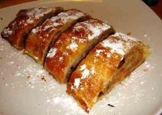 Cottage cheese strudel apple strudel