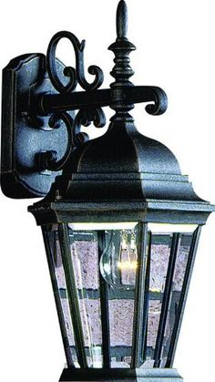 "Artcraft Lighting AC8421BK TUDOR European Style Outdoor Wall Sconce Light, Black by Artcraft. $130.00. From the Manufacturer                Beautiful European styled outdoor wall sconce with clear glassware in black finish. For over 50 years, ARTCRAFT has earned a reputation for excellence in home lighting products that is the envy of many companies in North America. ARTCRAFT is a ""family"" owned business with many talented and skilled individuals, all dedicated to quality in ..."