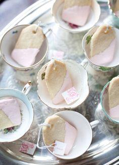 Tea bag short bread cookies