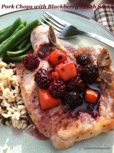 Pork Chops with Blackberry Peach Sauce
