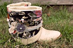 I have a pair of white slouchy cowboy boots from Diesel, that I havent been able to part with... Now I know what to do!!!