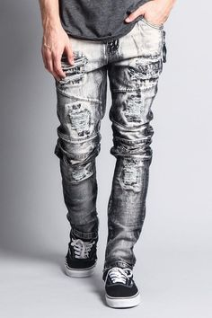 Stay trendy with these frosted denim jeans cf3e10d19f