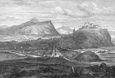 Engraving in 'Old & New Edinburgh  -  Edinburgh from the north  -  1693
