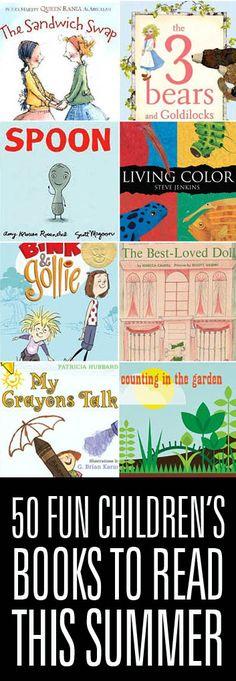 50 Fun Books to add to your Child's Summer Reading List.