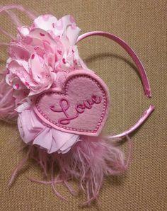 Valentines Day Headband Heart Headband Valentine by TheOrangeAcorn