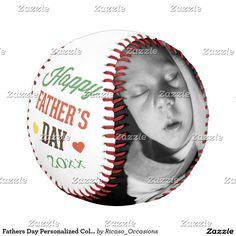 bf5dd26ad45 Fathers Day Personalized Colorful Baseball. Zazzle. Fathers Day Personalized  Unique One Of ...