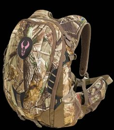"""Badlands Ultra Day Pack for Women      4 Compartments  6 Pockets  Holds a 105oz. Bladder (sold sep.)  Holds a Bow or Rifle  Dimensions 22""""x14""""x8""""  Capacity 2500 ci  Available in AP Camo or Max 1 Camo"""