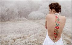Polish folk style tatoo - back. BEAUTIFUL! If only I was brave enough...!
